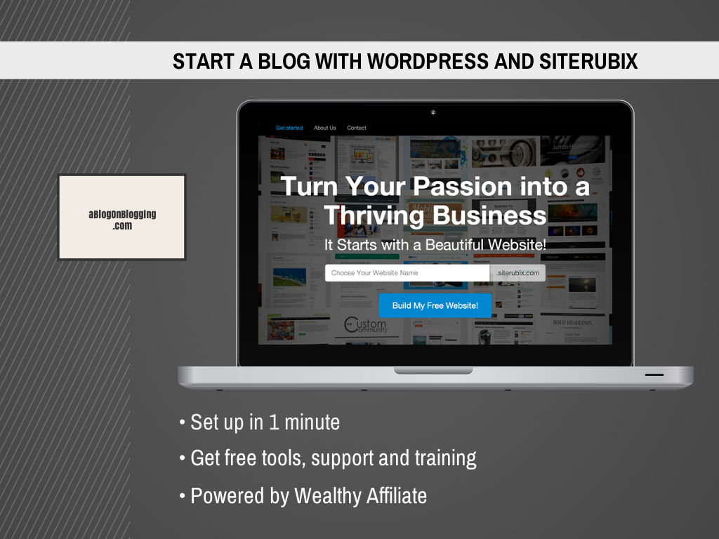Start A Blog With WordPress For Free With SiteRubix