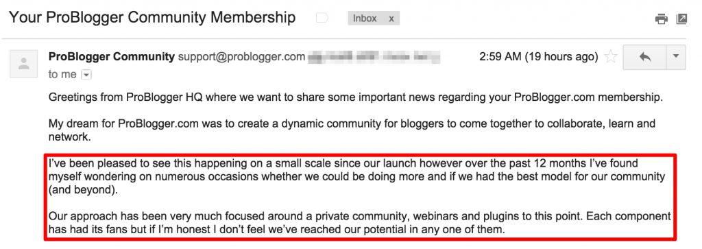 ProBlogger Closing Down
