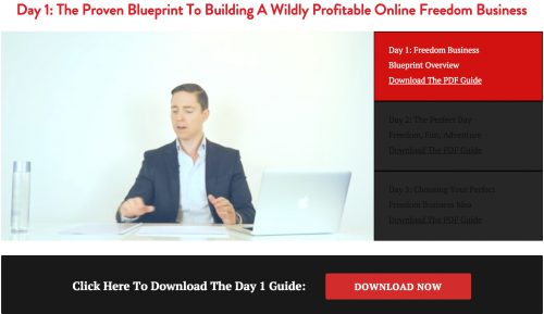 Freedom Business bootcamp video 1