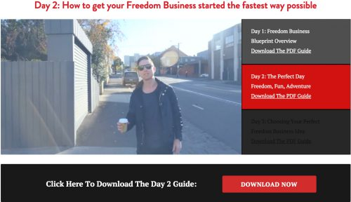 Freedom Business bootcamp video 2