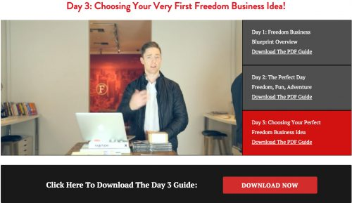 Freedom Business bootcamp video 3