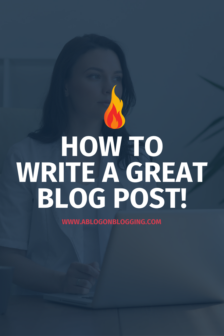 learn how to write a blog post