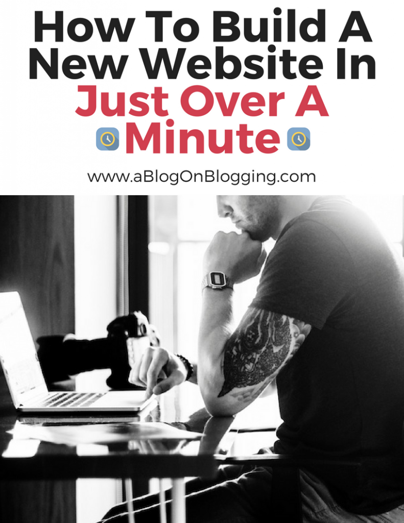How To Build A New Website In Just Over A Minute