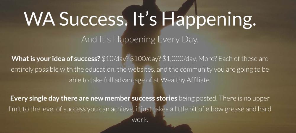 Wealthy Affiliate Success