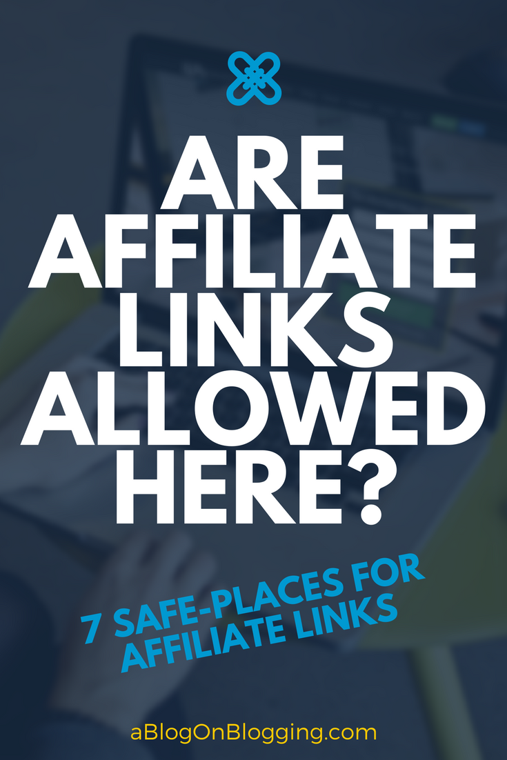 where are affiliate links allowed