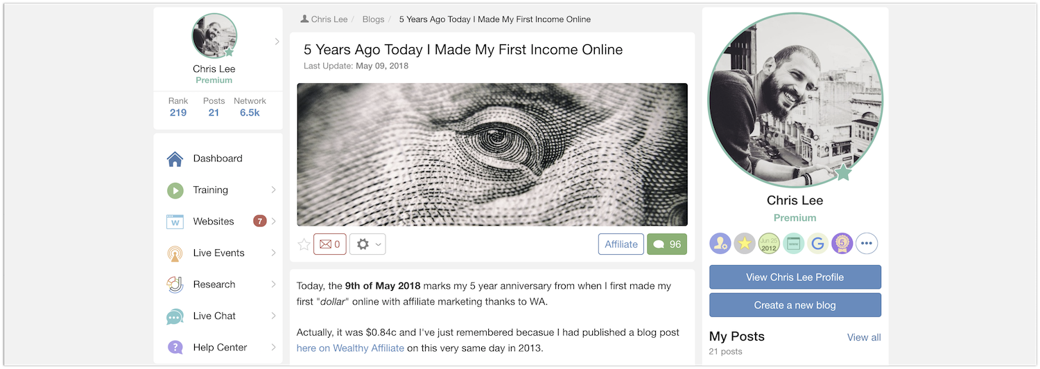 5 Years Ago Today I Made My First Income Online