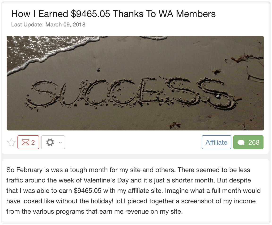How I earned $10,000 with Wealthy Affiliate