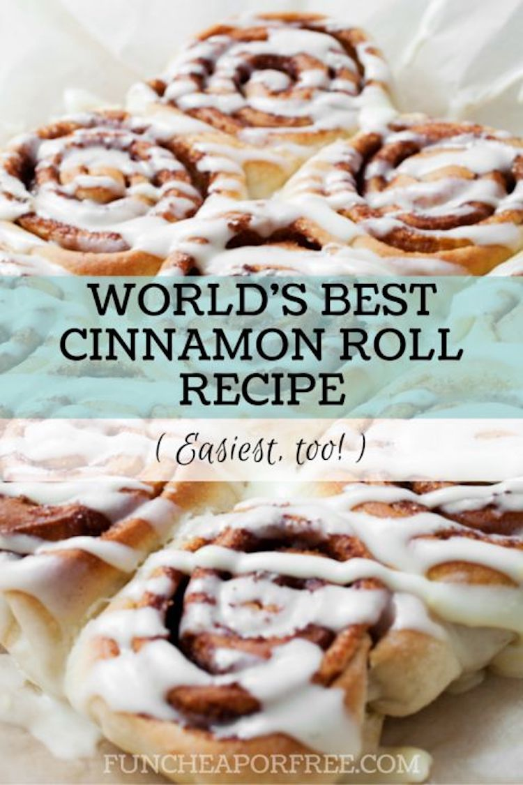 The World's Best Cinnamon Recipe: The world's best homemade cinnamon roll recipe…from a bread machine?! You bet your buckets, pal! My cinnamon roll rant on Saturday reminded me how much I really do love homemade cinnamon rolls, and that I really do have the easiest, most delicious cinnamon roll recipe…made mostly in the bread machine!