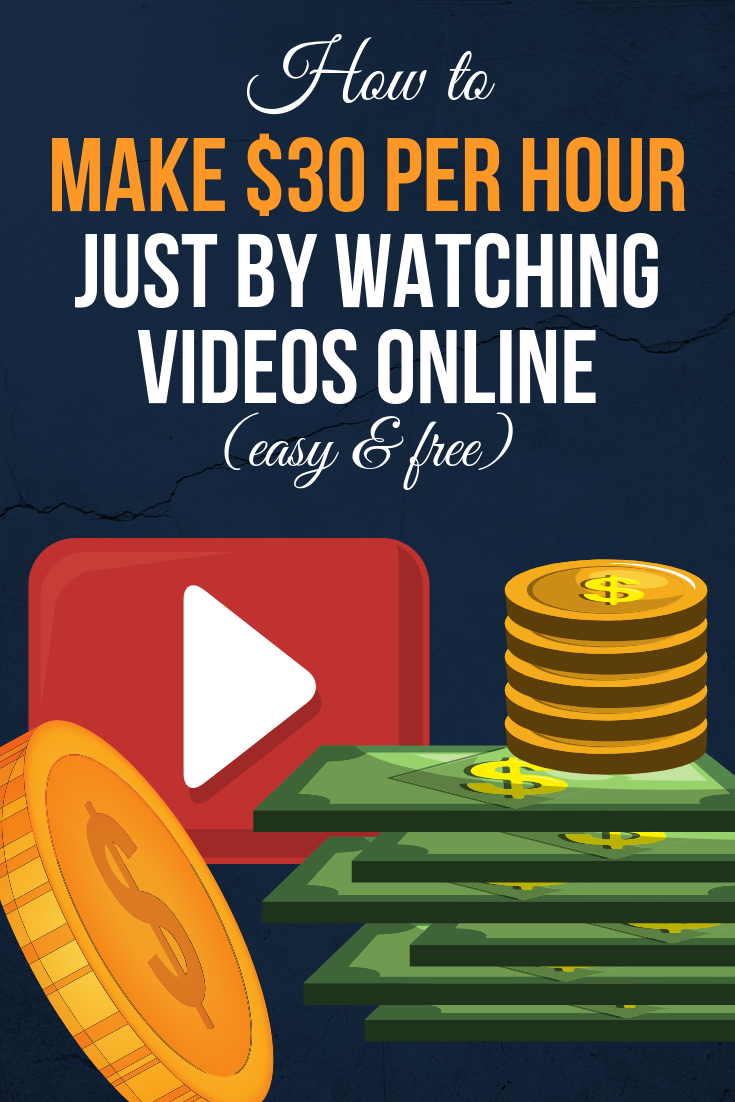 how to make $30 per hour watching videos