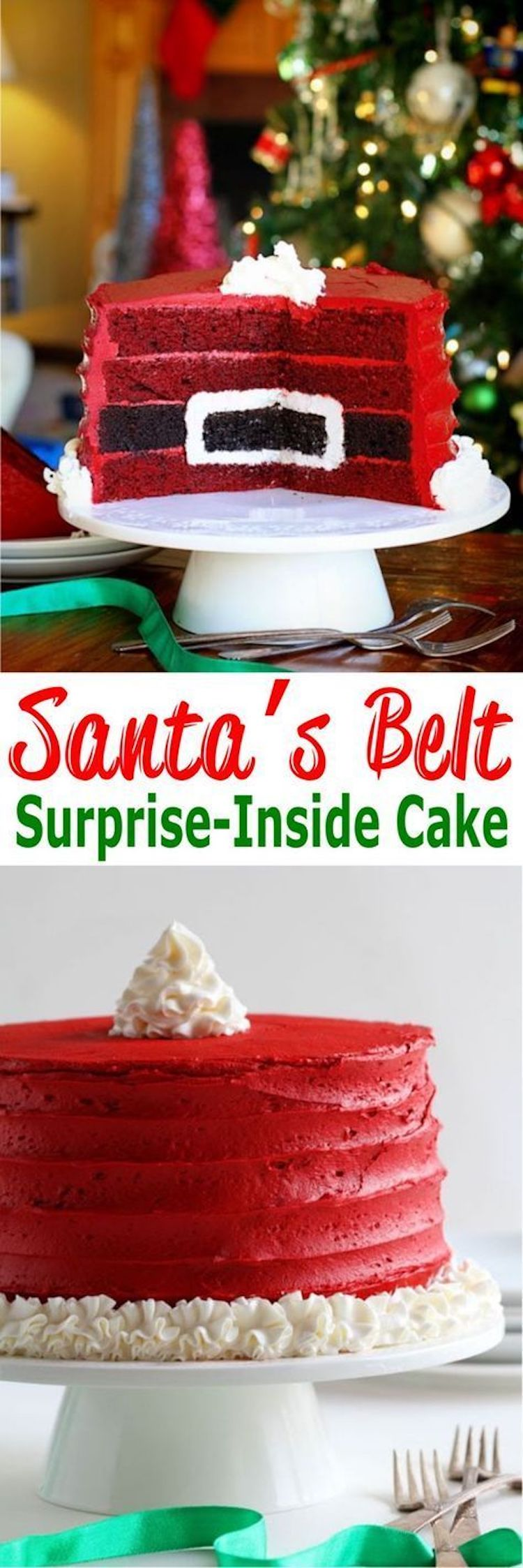 Santa's Belt Surprise-Inside Cake