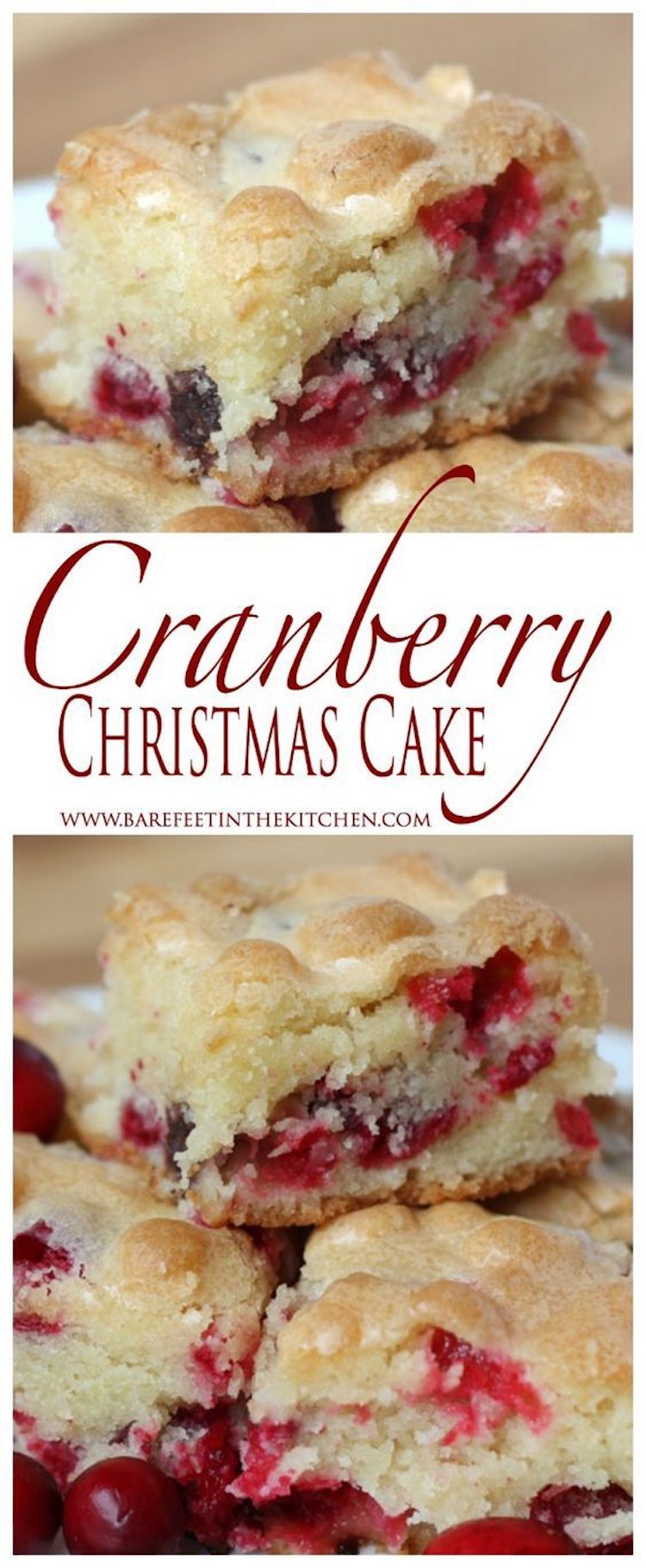 Delicious Cranberry Christmas Cake Recipe