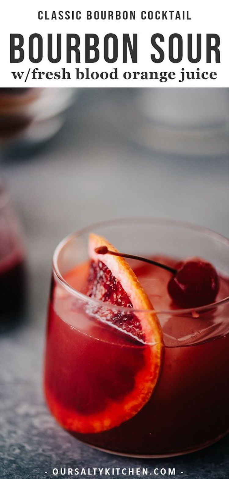 Bourbon Sour Blood Orange Cocktail