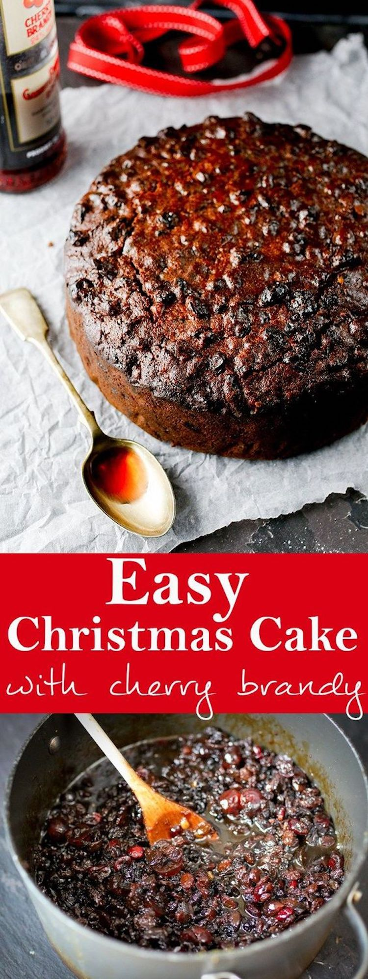 Easy Christmas Cake Recipe (With Cherry Brandy)