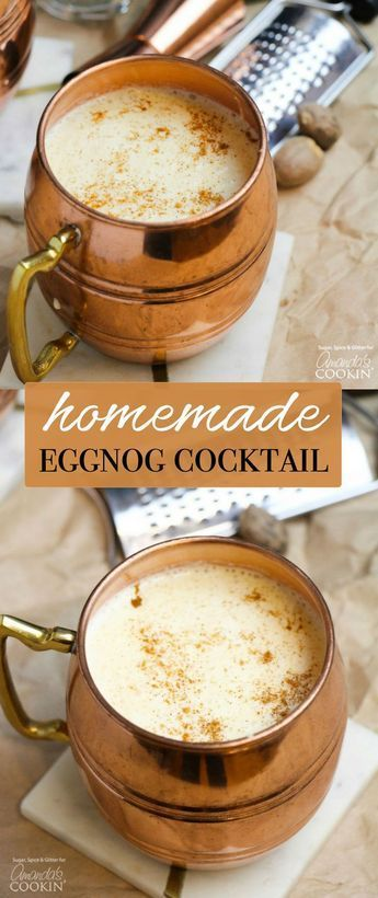 Homemade Eggnog Cocktail Christmas Recipe