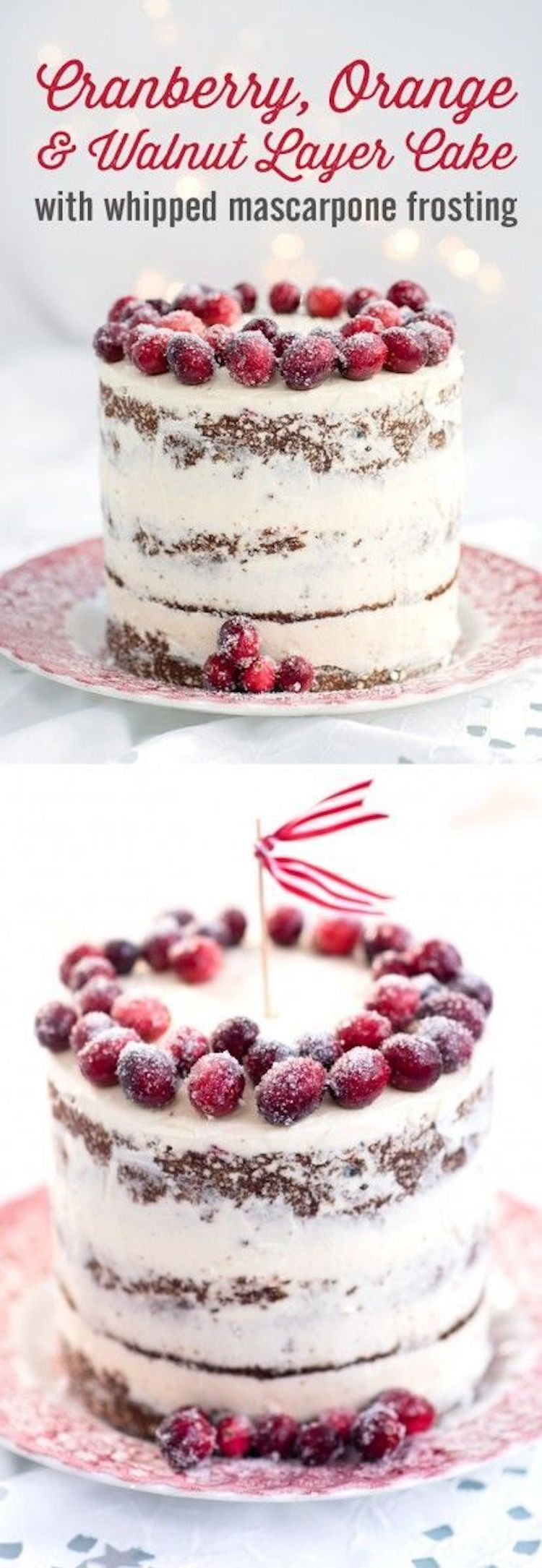 Festive Cranberry & Orange Christmas Cake