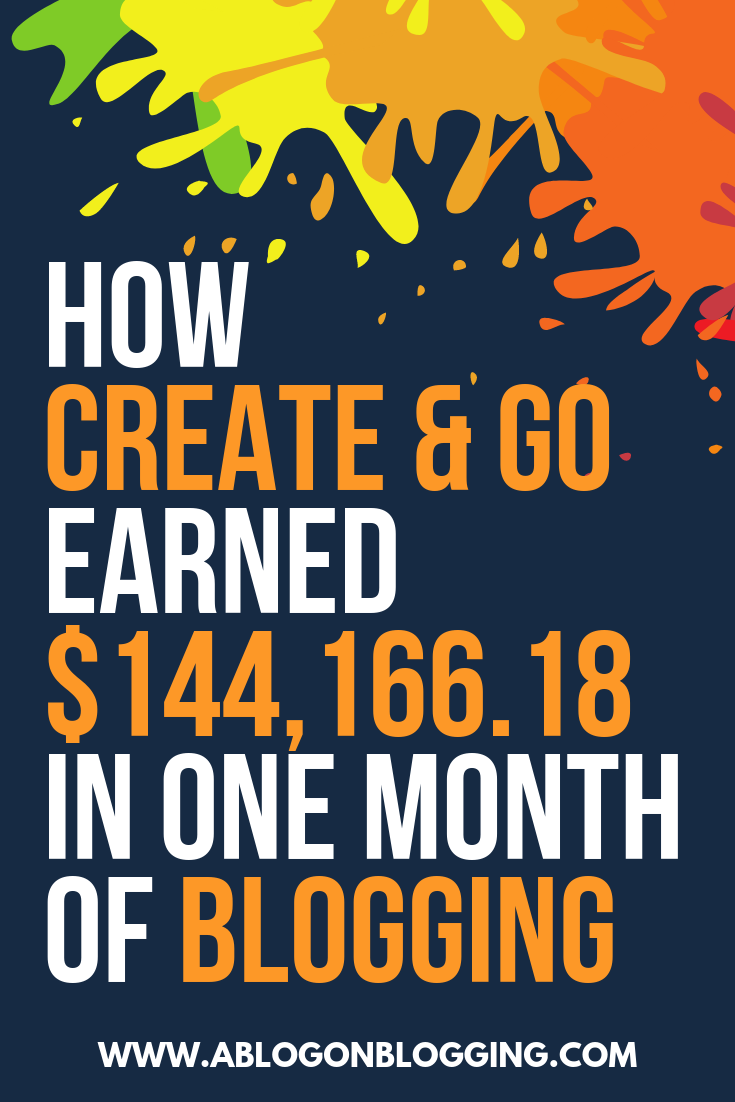 earn $140,000 a month blogging