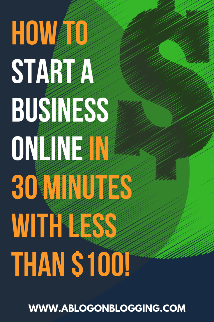 how to start an online business with 100 dollars