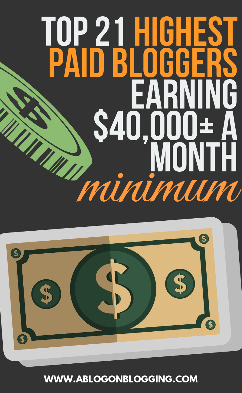 Top 21 Highest Paid Bloggers Earning $40,000+ A Month (Minimum)