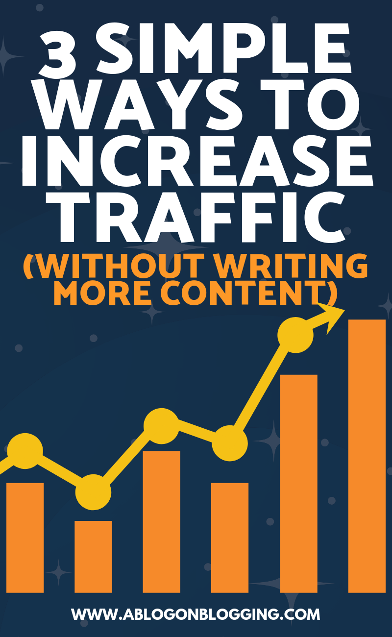 3 Simple Ways To Increase Traffic (Without Writing More Content)