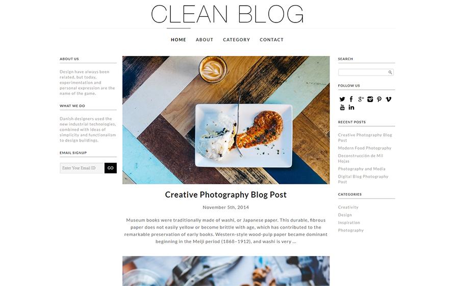 #6: Clean Blog (Free)