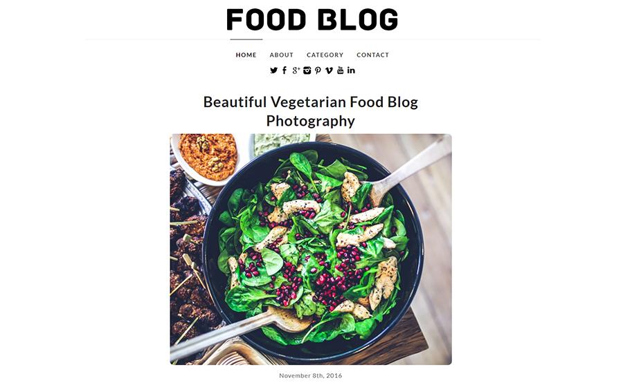 #4: Food Blog (Free)