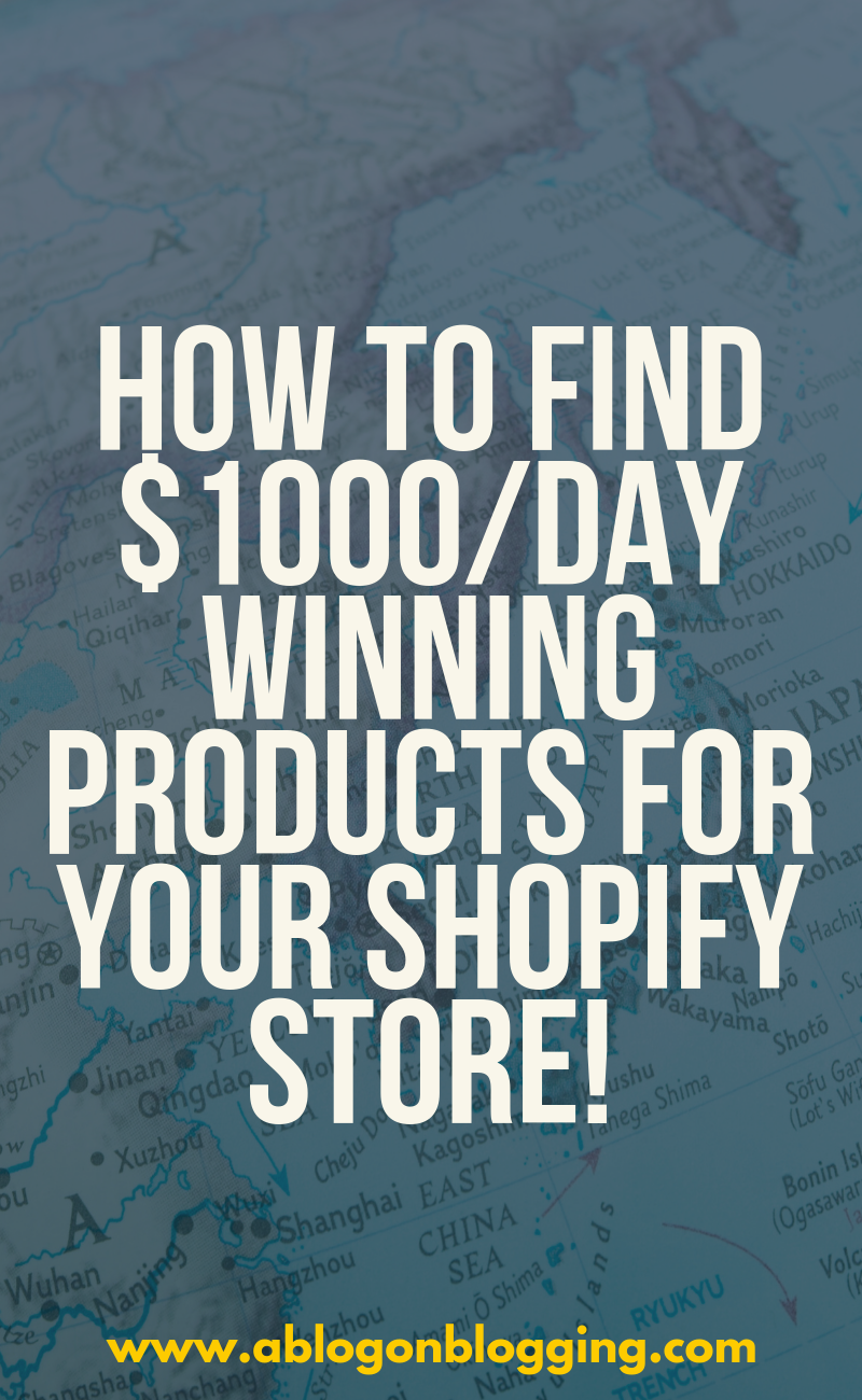 How To Find $1000/day Winning Products For Your Shopify Store!