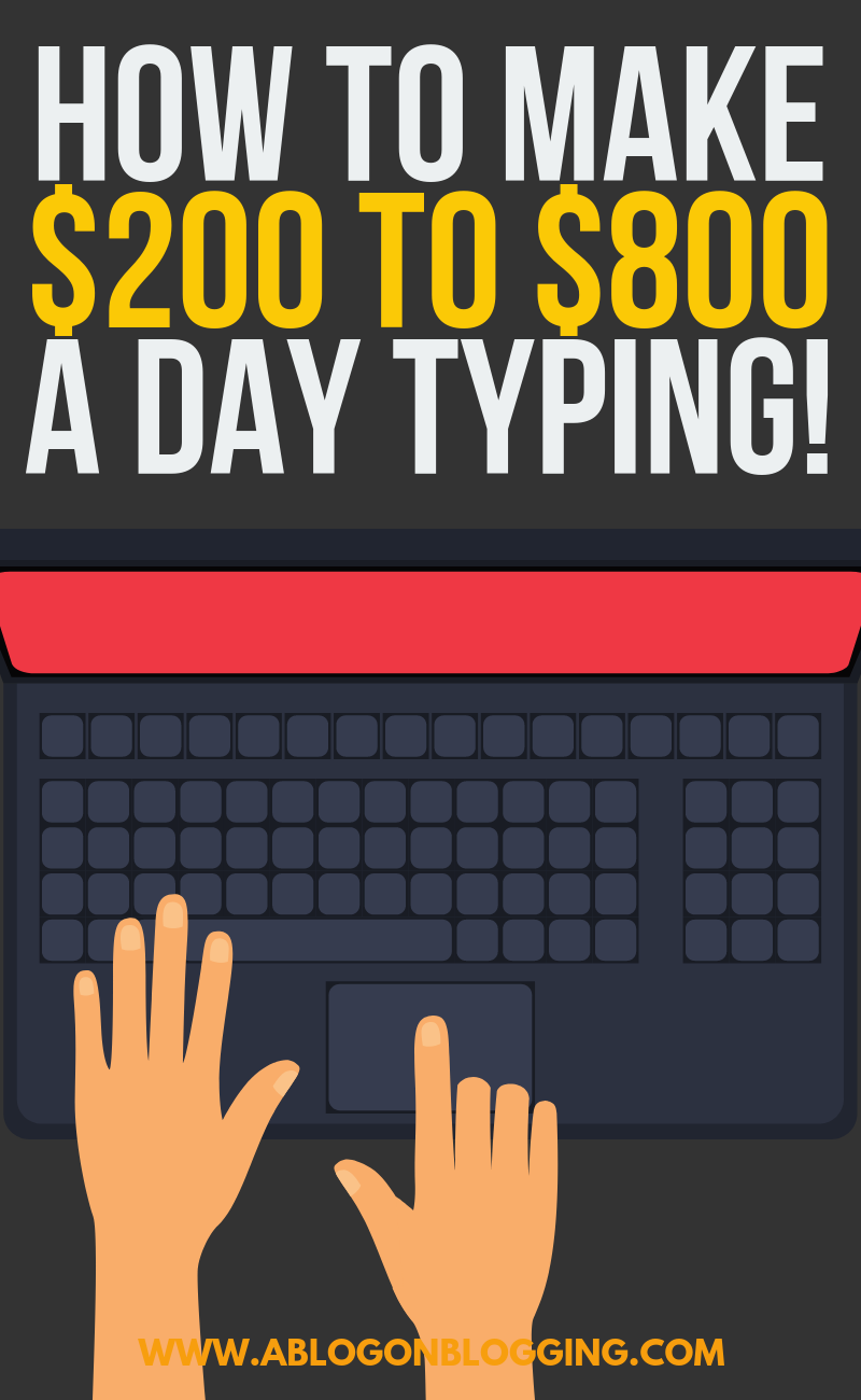 How To Make $200 to $800 A Day Typing! (OMG)