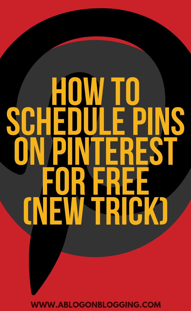 How To Schedule Pins On Pinterest For Free (New Trick)
