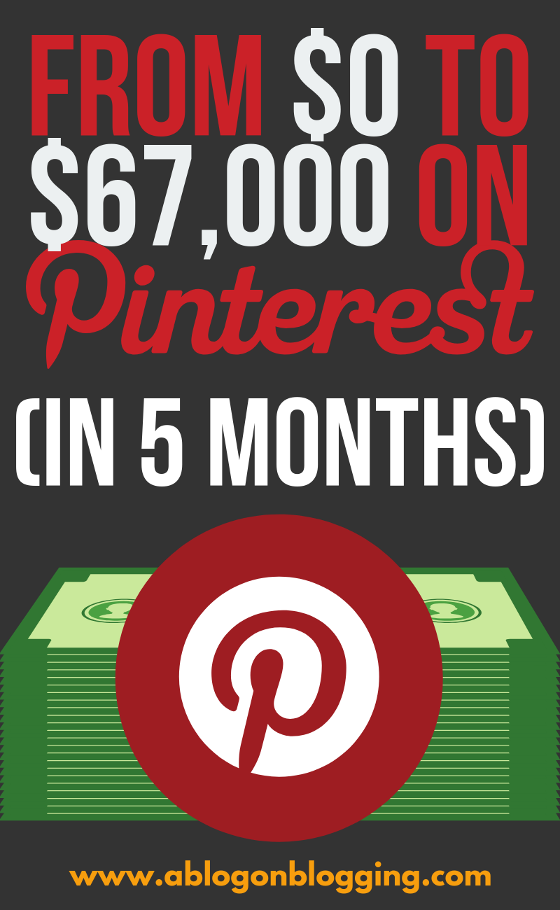 From $0 to $67,000 On Pinterest (In 5 Months)