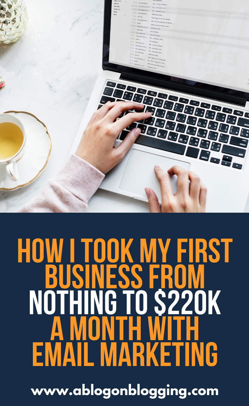 How I Took My First Business From Nothing To $220k+ A Month With Email Marketing