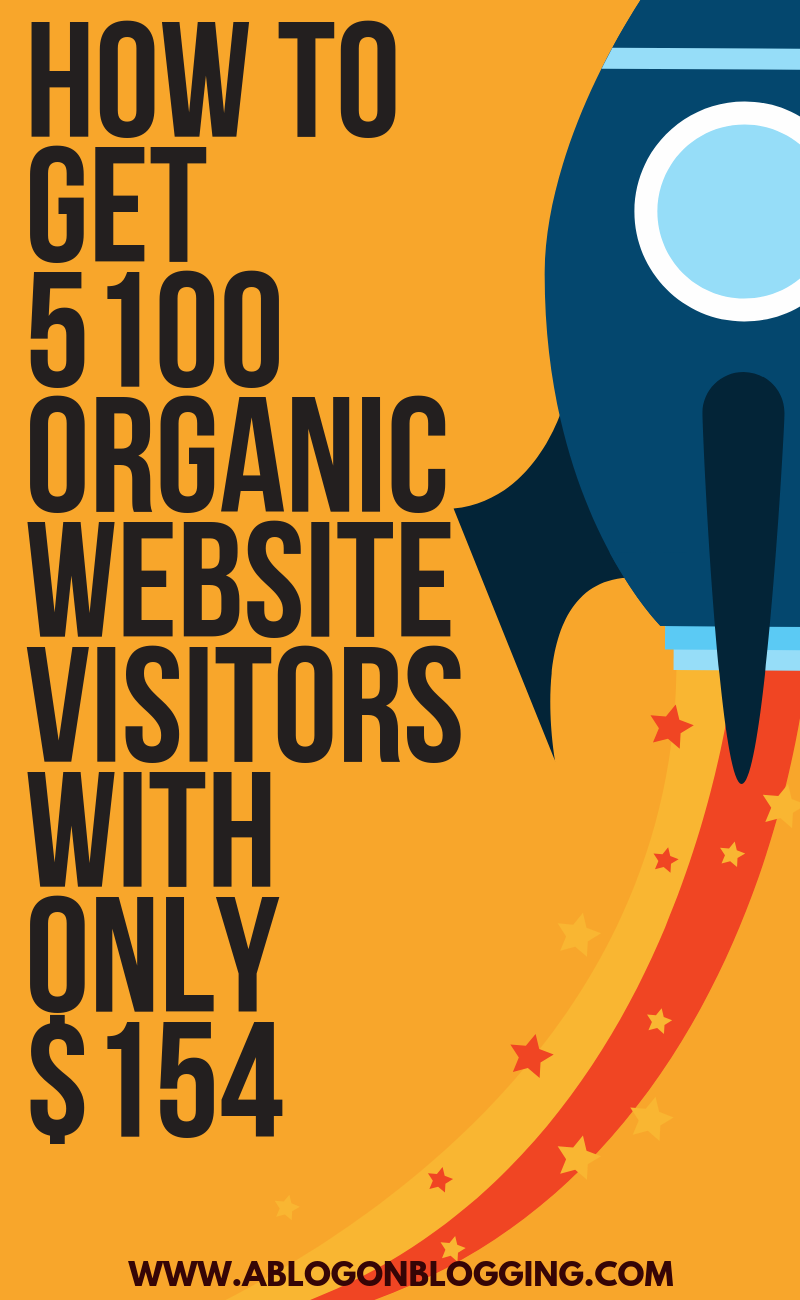 How To Get 5100 Organic Website Visitors With Only $154 [2019 METHOD]