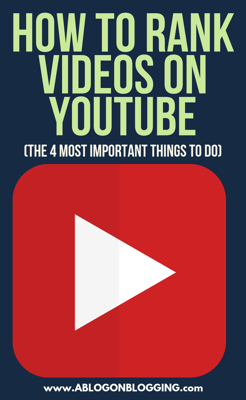 How to Rank Videos on YouTube (The 4 Most Important Things To Do)