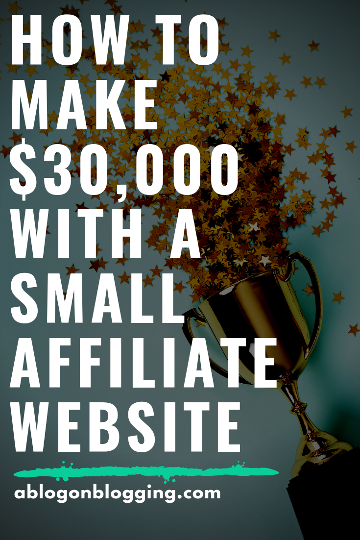 How To Make $30,000 With A Small Affiliate Website